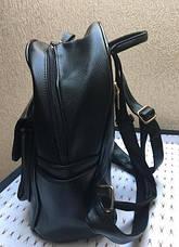 Рюкзак женский черного цвета эко-кожа, качественный, фото 3
