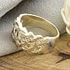 Серебряное кольцо Лукас вставка белые фианиты вес 5.7 г размер 17, фото 2