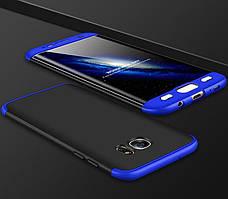 Чехол GKK 360 для Samsung Galaxy S7 / G930 накладка Black-Blue
