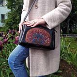 Пошитая сумка из натуральной кожи с деревянной вставкой  Virena VBG_406, фото 2