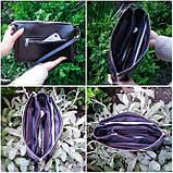 Пошитая сумка из натуральной кожи с деревянной вставкой  Virena VBG_406, фото 3