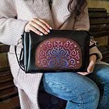 Пошитая сумка из натуральной кожи с деревянной вставкой  Virena VBG_406, фото 5