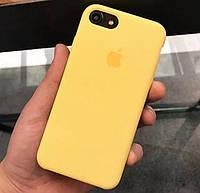 Силиконовый чехол Apple Silicone Case для iPhone 7 / 8 yellow Soft touch Люкс качество чехлы на айфон желтый