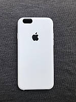 Силиконовый чехол Apple Silicone Белый  iPhone 6/6s Soft touch white Люкс качество чехлы на айфон