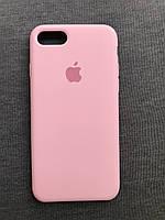 Силиконовый чехол Apple Silicone Case для iPhone 7 / 8 розовый Soft touch Люкс качество чехлы на айфон Pink