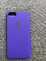 Силиконовый чехол Apple Silicone Case для iPhone 7 / 8 фиолетовый Люкс качество чехлы на айфон purple