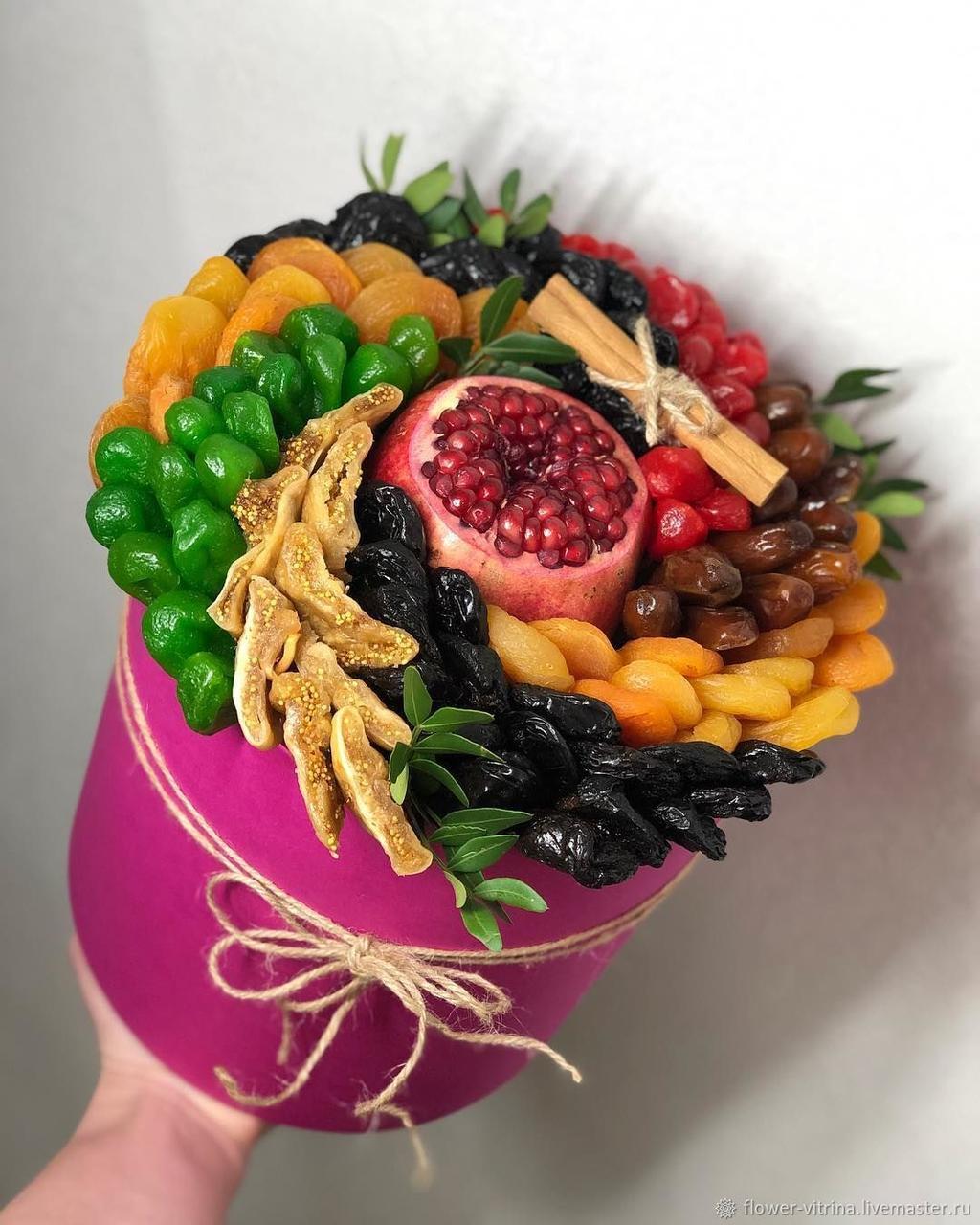 Подарочная коробка Здоровый вкус поздравительная сюрприз из сухофруктов