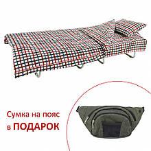 Ліжко на ламелях з постіллю d25 мм бязь Квіти (Кольорова дрібна клітка)