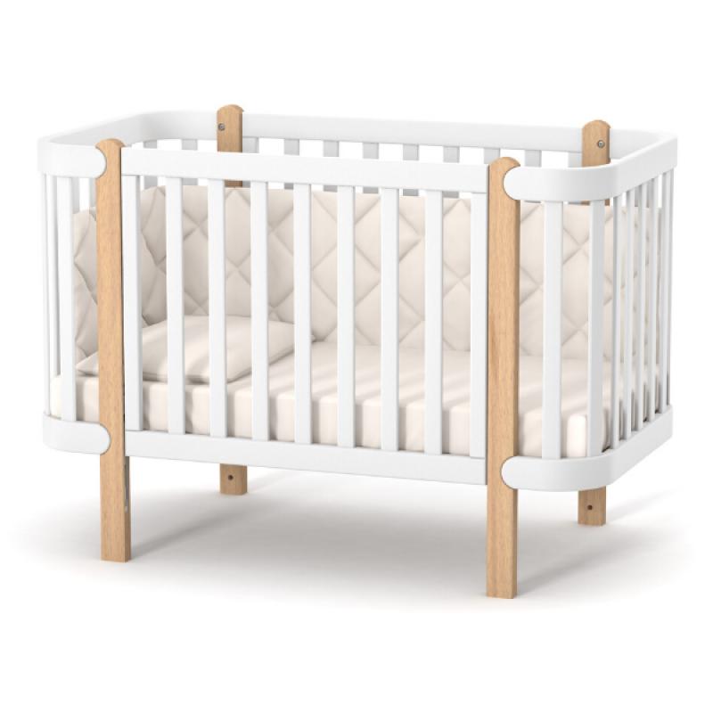 Детская кроватка Верес Монако цвет Бело-Буковый