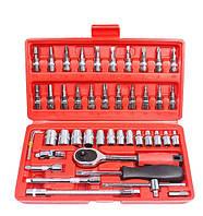Набор инструментов для ремонта 46 шт. Piese Tool Set (46 в 1) набор торцевых ключей