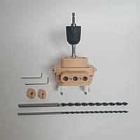 Кондуктор меблевий з пружинним механізмом під мініфікс (minifix), шкант, конфірмат, універсальний на ДСП 16/18