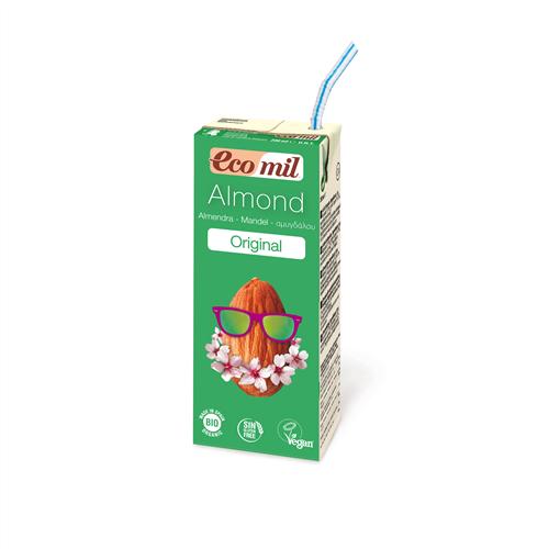"""Молоко """"Мигдальне з сиропом агави"""" 200мл ТМ Ecomil"""