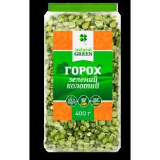 Горох зелений колотій 400г ТМ Natural Green