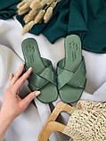 Женские зеленые шлепанцы, фото 2