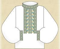 """Заготовка цветная """"Цветок"""" для вышивания вставки мужской рубашки бисером"""