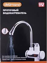 Проточный мгновенный водонагреватель c LCD дисплеем Delimano Электро нагреватель Делимано В подарок Water save, фото 2