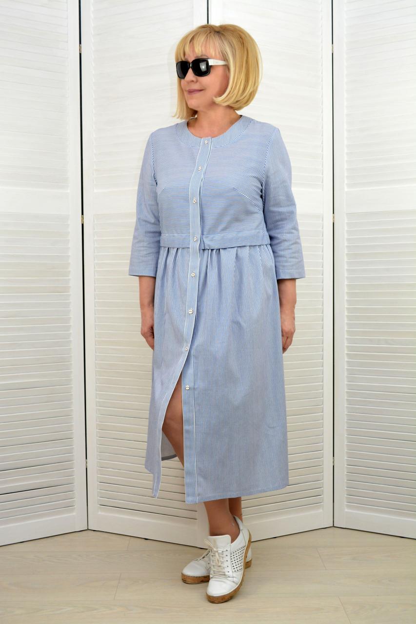 Платье-кардиган в полоску - Модель 1644-9