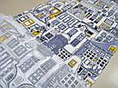 Ткань вафельная ширина 50 см Город, фото 5