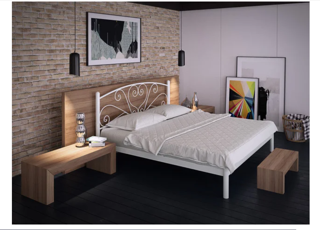 Кровать металлическая - Карисса