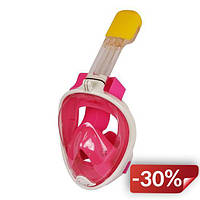 Маска Supretto для снорклинга Easybreath Розовый S/M (5050-0004)