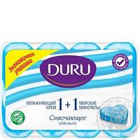 """АКЦІЯ Мило """"Duru"""" """"1+1"""" 4*90г Морські водорості (синє)/-090/12"""