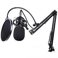 Микрофон конденсаторный BM-800 Black(стойка в комплекте, паукметалический), фото 1