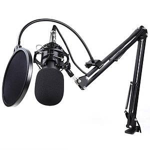 Мікрофон конденсаторний BM-800 Black (стійка в комплекті, павук металевий)