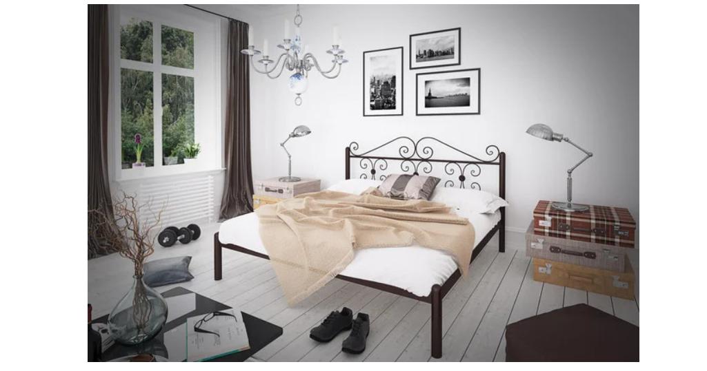 Кровать металлическая - Бегония