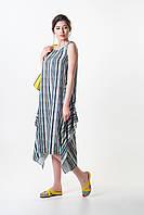 Платье женское Este бохо летнее в яркую полоску бирюзовое