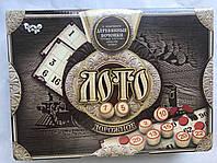 Игра настольная Лото дорожное с деревянными бочонками Danko Toys