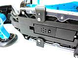 Самокат-беговел 5в1 Scooter с родительской ручкой, сиденьем, подсветкой платформы и колес, Синий с рисунком, фото 3