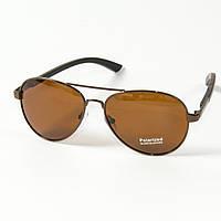 Поляризационные  солнцезащитные очки авиаторы (арт. T8200589/1) коричневые