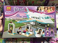 Детский Развивающий Конструктор для девочек Bela Friends Частный самолёт Оливия, Мэттью 236 деталей, 36,7*22*6