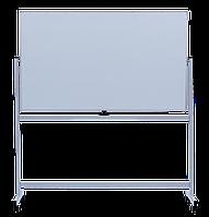 Флипчарт магнитный сухостираемый  90 х150 cм  мобильный  горизонтальный