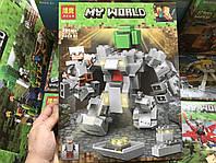 Конструктор Minecraft bela 11135 Майнкрафт Робот Титан, 221 деталей, 1 фигурки, в коробке 30*23*5