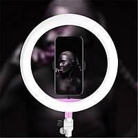 Профессиональная кольцевая светодиодная лампа 26см на штативе для блогера селфи розовое кольцо