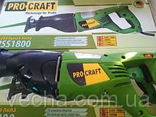 Сабельная пила Procraft PSS-1800 (+ пилочки в наборе)