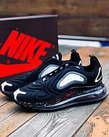 Кроссовки мужские Nike Air Max 720 Black / Найк Аир Макс 720 черные