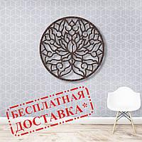 Настенное панно из дерева Цветок Востока 50х50 см, фото 1