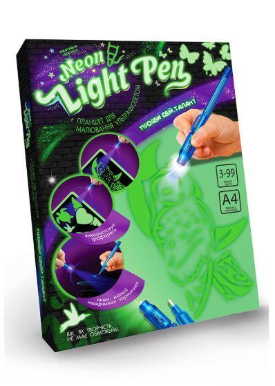 Набор креативного творчества Neon Light Pen сова Dankotoys