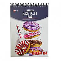 Альбом для скетч-маркеров  Santi, А5, 32 л., 130 г/м2    код: 742613