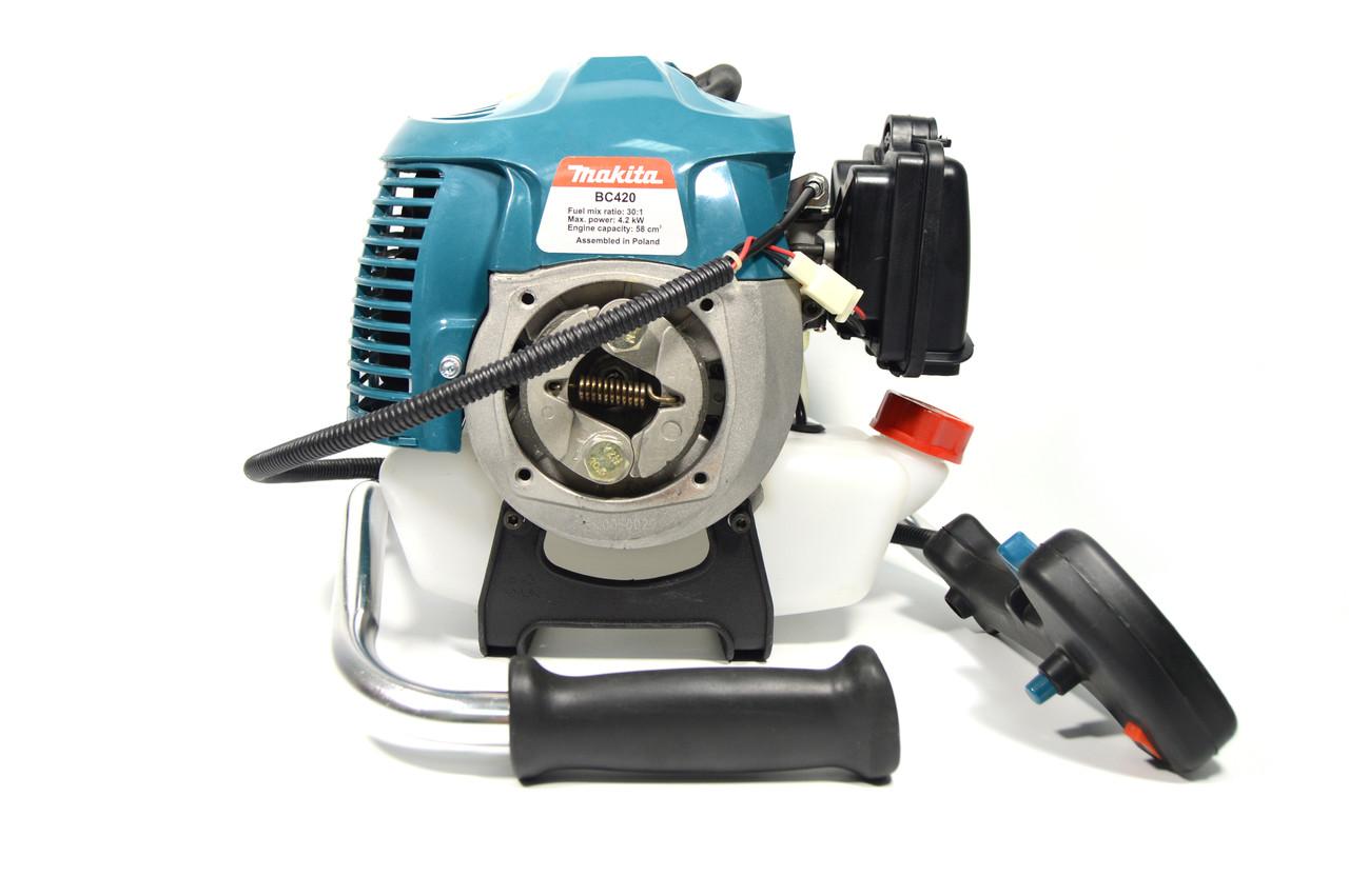 Мотокоса бензиновая Makita ВС 420 (Бензокоса Макита ВС 420) 4.2 кВт / 5.0 л. с 11000 об/мин