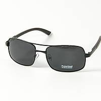 Поляризационные мужские солнцезащитные очки (арт. 10-C16500487/1) с черной оправой