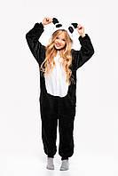 Пижама Кигуруми Панда черная для детей от 120 см и взрослых, женская и мужская из качественного велсофта