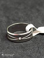 Обручальное кольцо с камнем из нержавеющей стали  4304