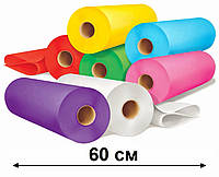 Простынь одноразовая в рулоне 0.6х100 м - 19 г/м2, (Белые, Голубые, Розовый, Красный, Фиолетовый)