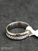 Обручальное кольцо с камнями по кругу из нержавеющей стали 4305