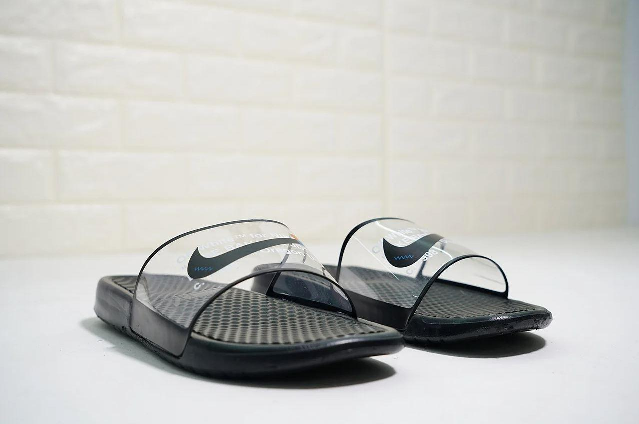 "Сланцы Nike Benassi x Off-White Casual Slipper Sandals  ""Черные"""