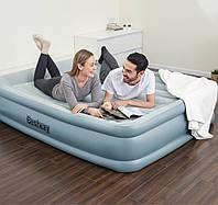 Надувная кровать двухспальная 203*152*46 см с встроенным насосом и USB-портом BESTWAY 67708, фото 1
