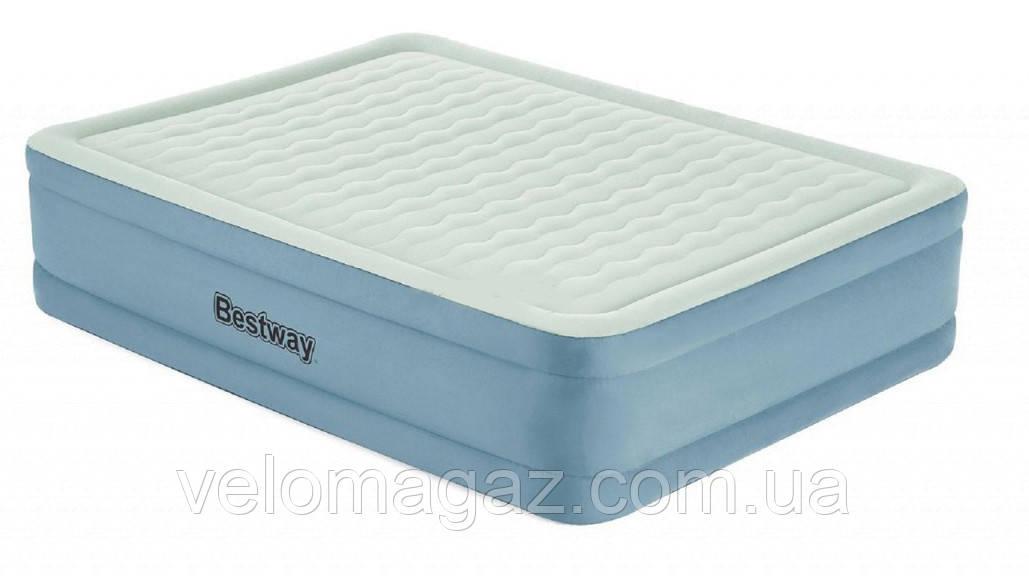 Надувная кровать двухспальная 203*152*51 см с встроенным насосом и USB-портом BESTWAY 69058